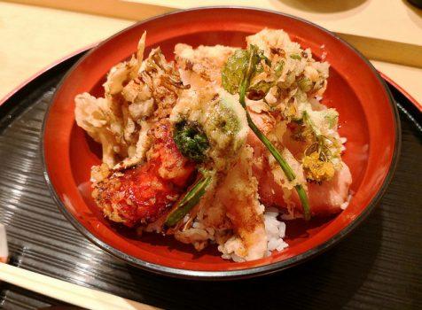 【恵比寿・広尾】紫長@カウンターのみの小さな和食屋さん。揚げたて天ぷらと半熟卵の春天丼。