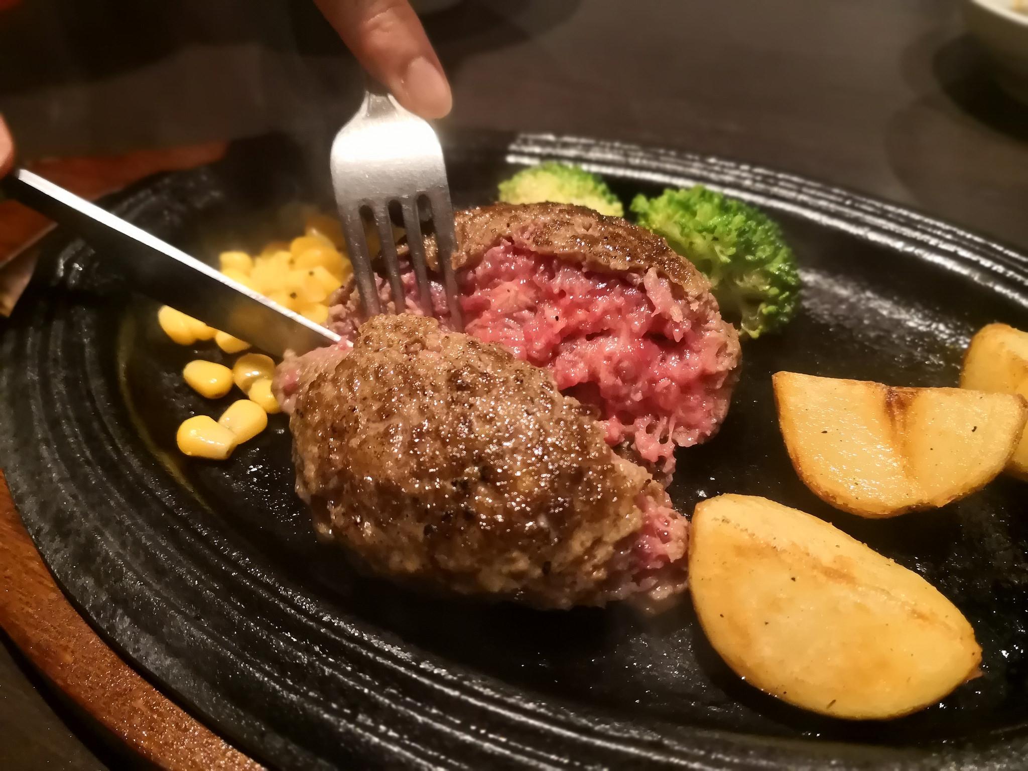 【五反田】銭場精肉店@お手頃本格的な黒毛和牛100%のハンバーグランチ。