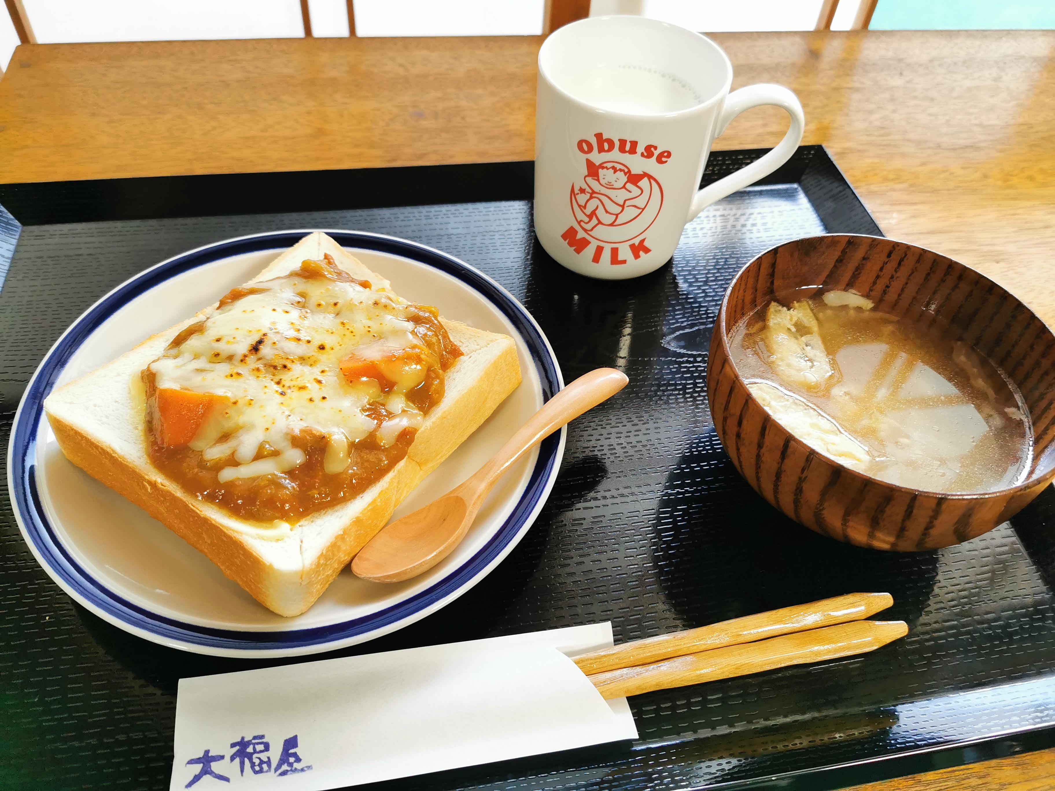 【長野】大福屋@善光寺お朝事帰りのモーニングはレトロな古本屋の2Fのカフェで。